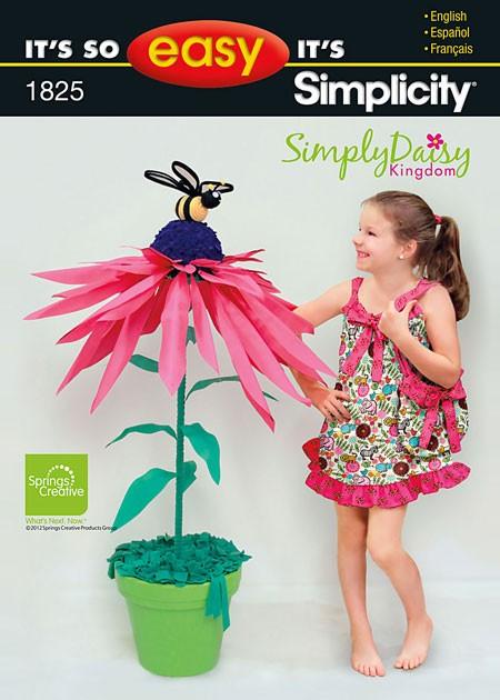 Выкройка Simplicity — Сарафан и сумка - S1825