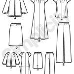 Выкройка Simplicity — Топ, Жакет, Платье, Юбка, Брюки - S2372 ()