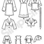 Выкройка Simplicity — Туника, Платье, Болеро - S3589