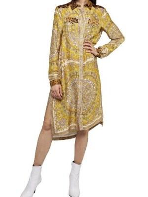 Платье-рубашка с платочным принтом