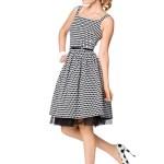 Выкройка Burda  7054 — Платье с плиссированной юбкой, топ