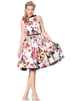 Выкройка Burda №7054 — Платье с плиссированной юбкой, топ