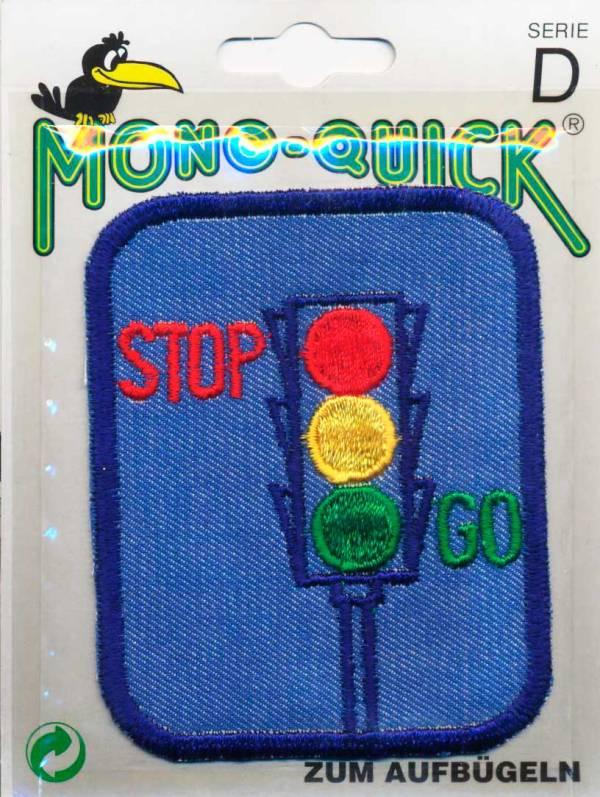 Термоаппликация заплатка детская джинсовая с вышивкой Светофор (арт. 63793-11)