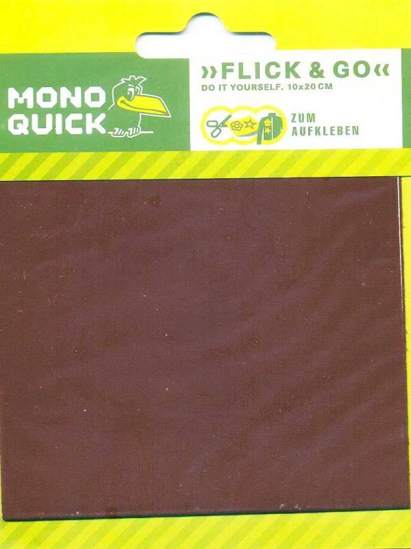 Заплатка самоклеющаяся, прямоугольная 10х20 см - коричневый