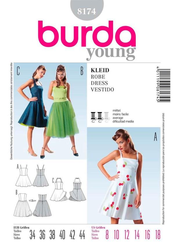 Выкройка BURDA №8174 — Платье, сарафан
