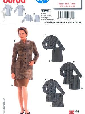 Выкройка BURDA №8014 — Женский костюм