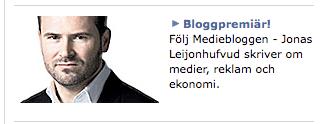 Jonas tar inte sitt bloggande på allvar.