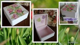 pudełko w tulipany