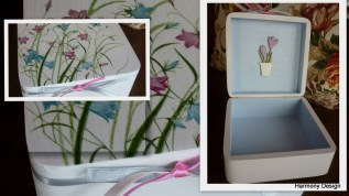 pudełko w polne kwiatki