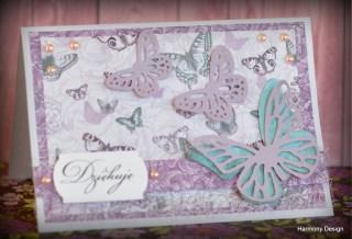 kartka z motylkiem