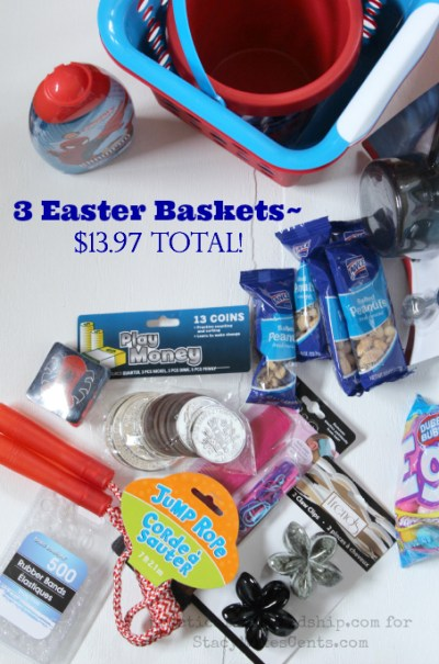 3 Frugal No Candy Easter Baskets