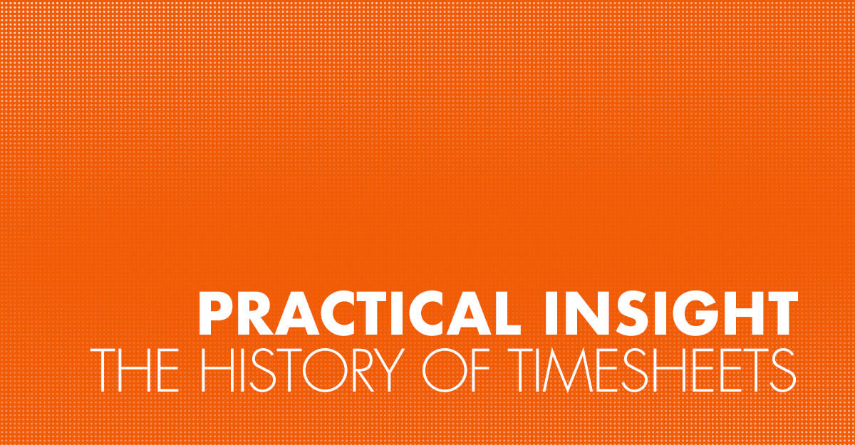 The History of Timesheets