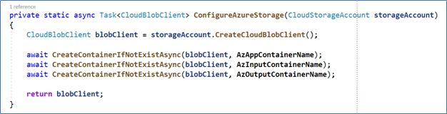 A screenshot of Azure batch script