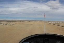 Landing in 12 knots of crosswind.