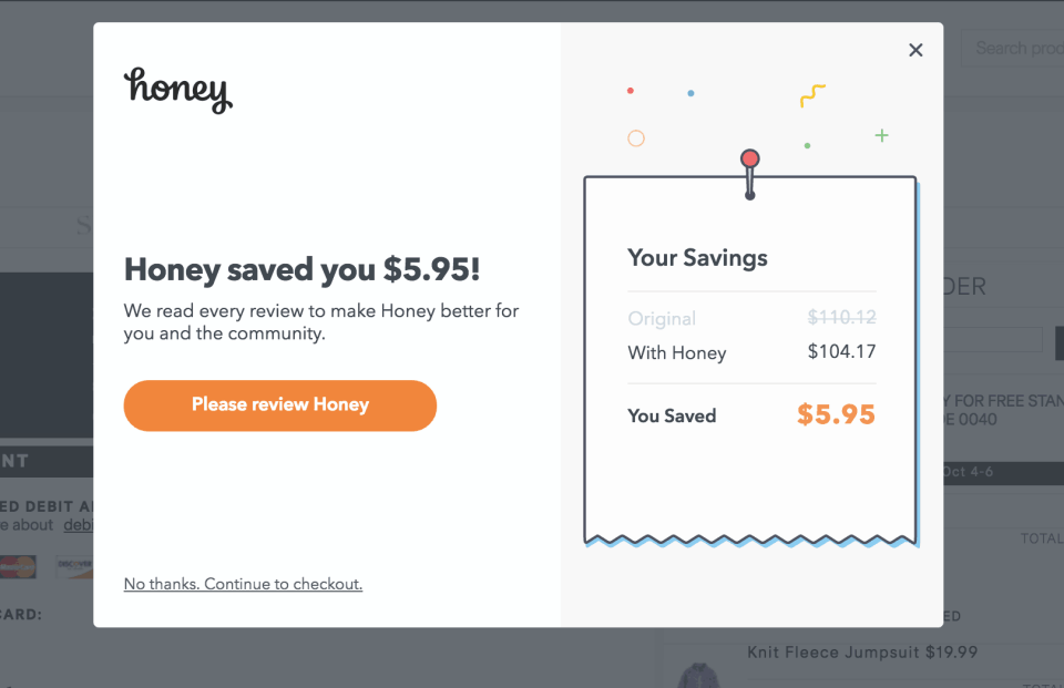 Steps to Save money online with Honey