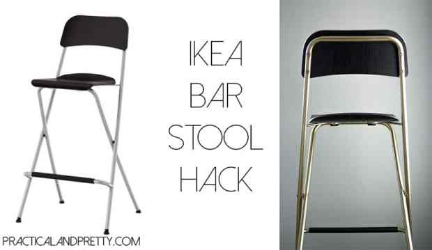 Gold and black Ikea bar stool hack