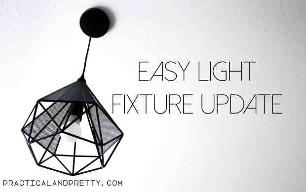 Easiest light fixture update ever with a geometric fixture