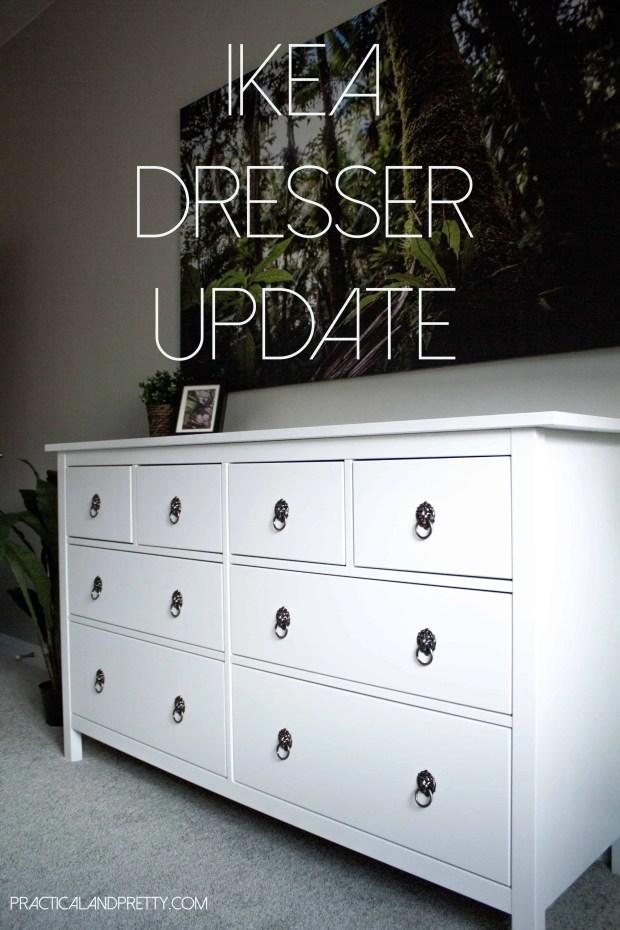 Easy IKEA Hemnes dresser update