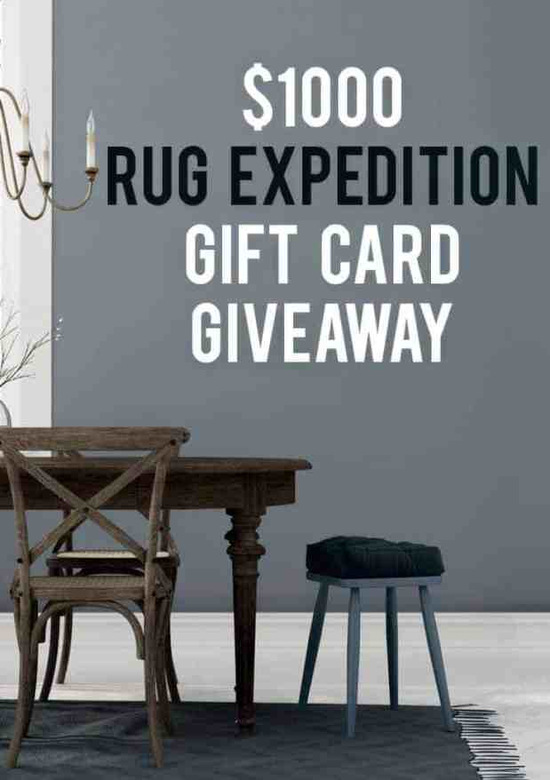 A $1000 GIFT CARD FROM RUG EXPEDITION! Brought to you by Rugs Expedition and amazing bloggers