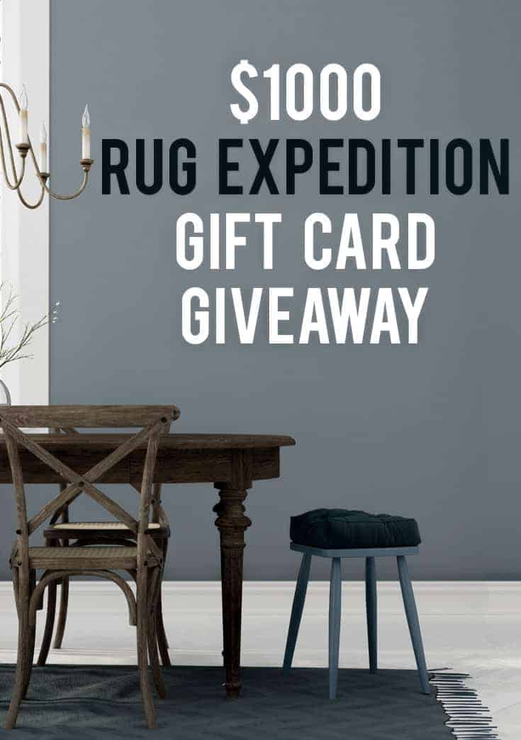 $1000 Rug Expedition Gift Card Givewaway