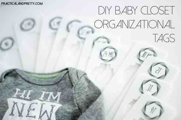 These easy nursery closet dividers are perfect for any nursery!