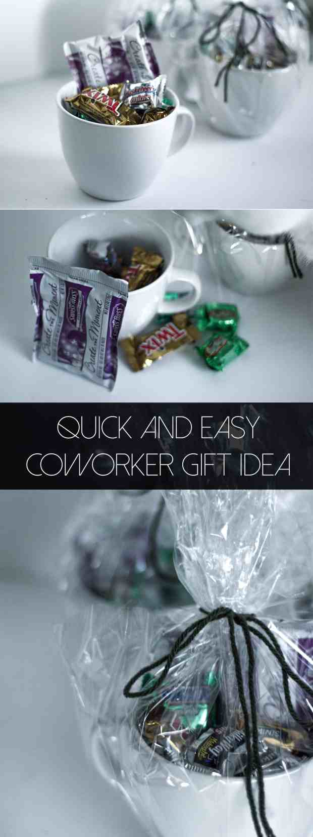 Quick and easy coworker gift idea. For less than $4!