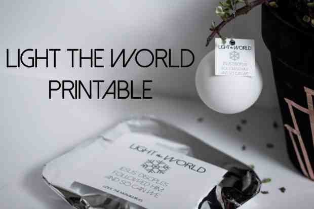 Light the World Free Printable