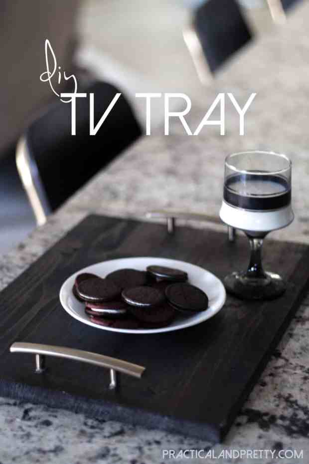 This is a super simple DIY TV tray.