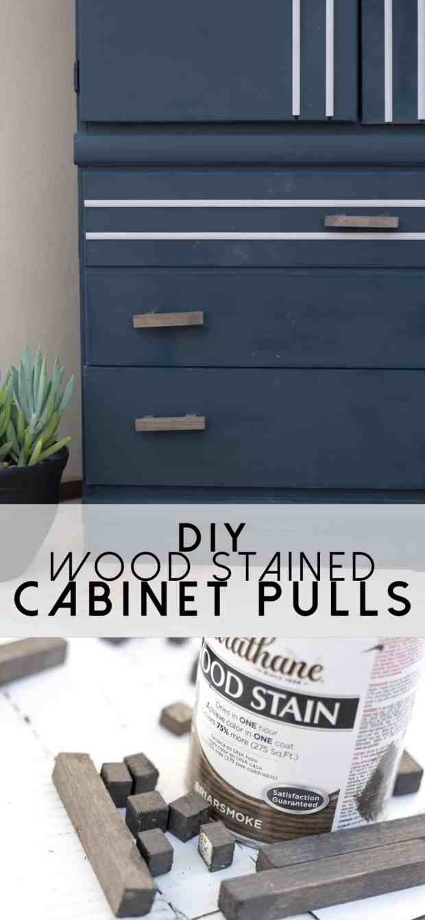 Did you know you can create your own cabinet pulls using just a wooden dowel? Such a simple way to make any cabinet custom!