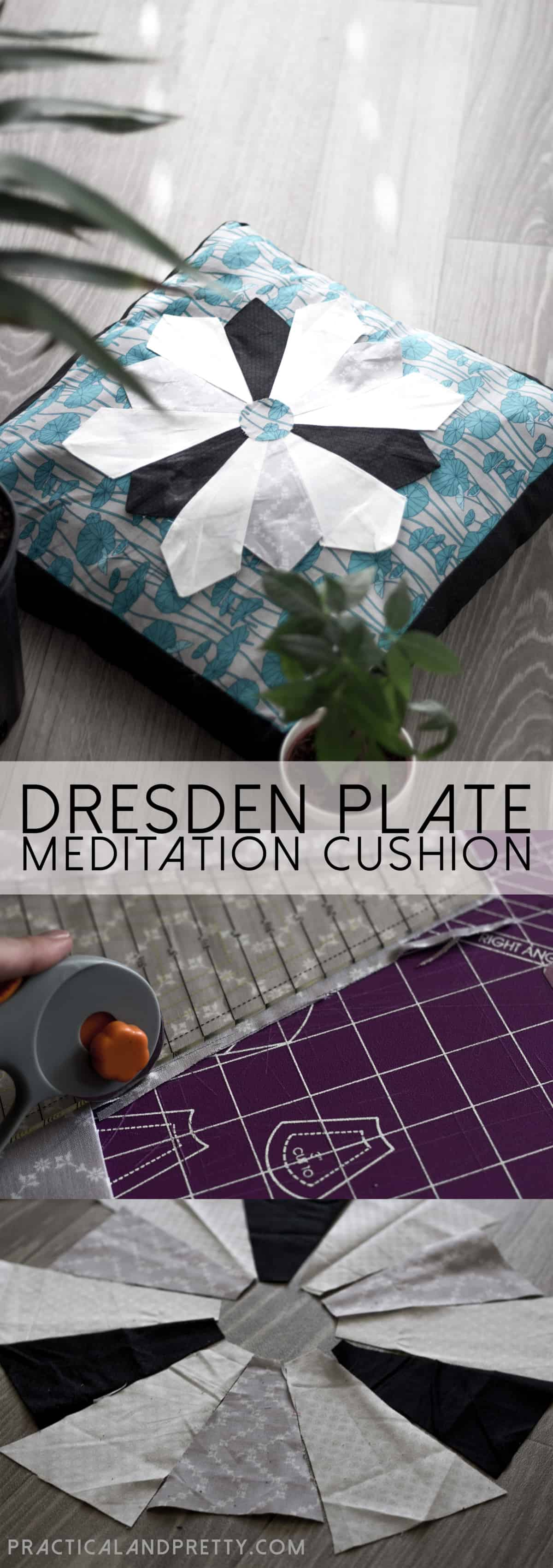 Diy Dresden Plate Meditation Pillow Practical And Pretty