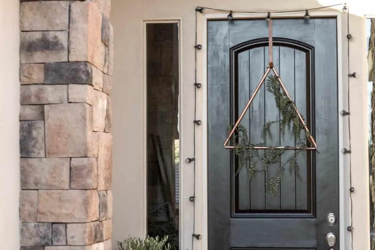 DIY Copper Triangle Wreath