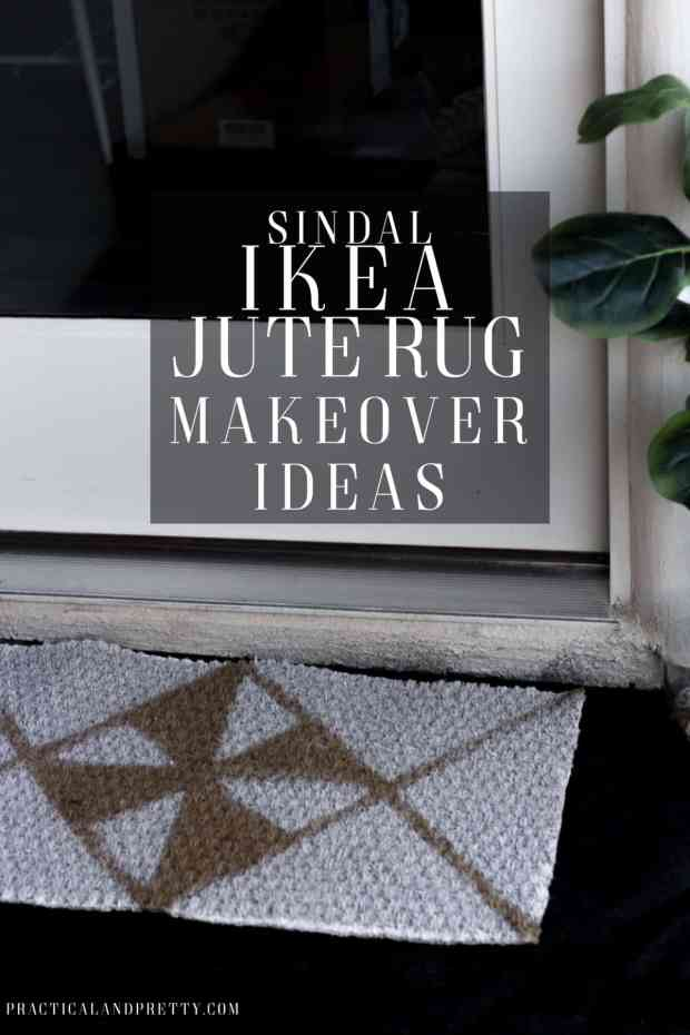 The SINDAL jute rug from IKEA is so customizable and easy to makeover! i did two different designs and they both turned out pretty cool!