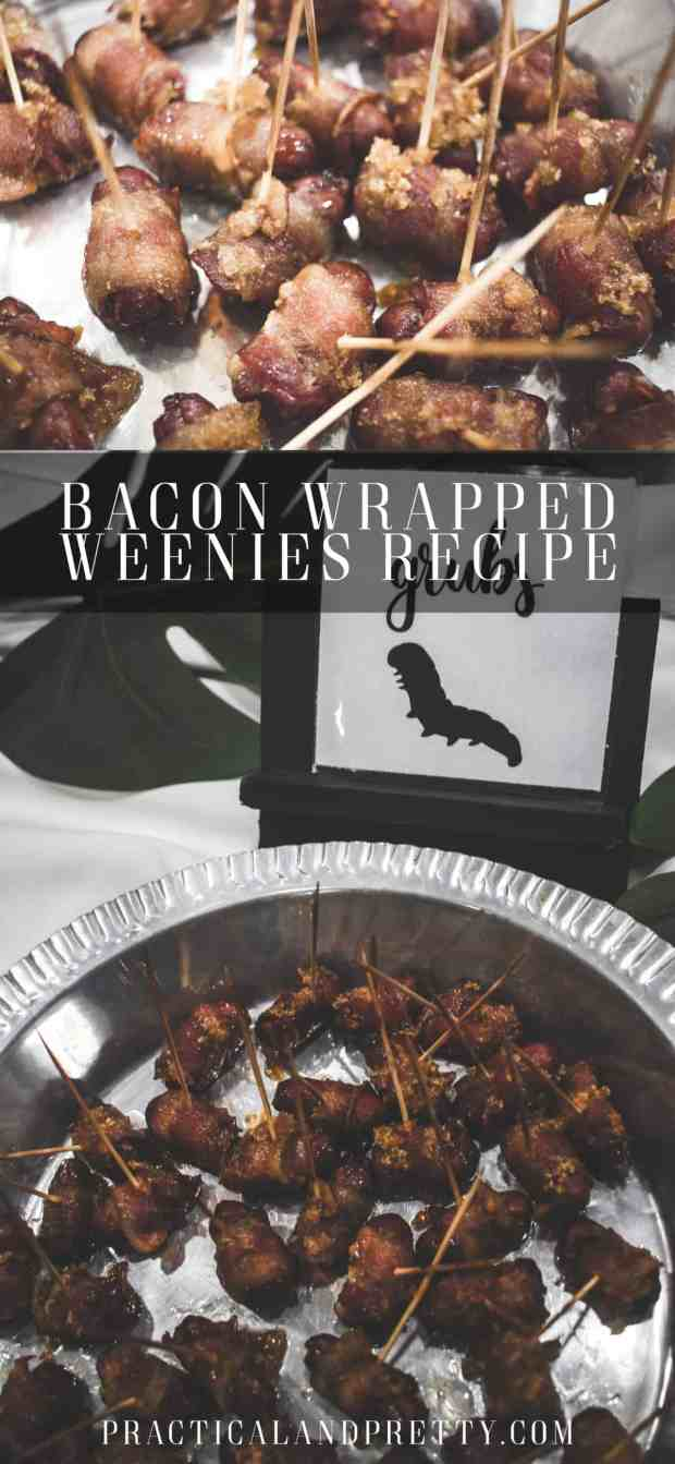 You are going to want to make an extra pan of these bacon wrapped weenies just for yourself. They are that good!