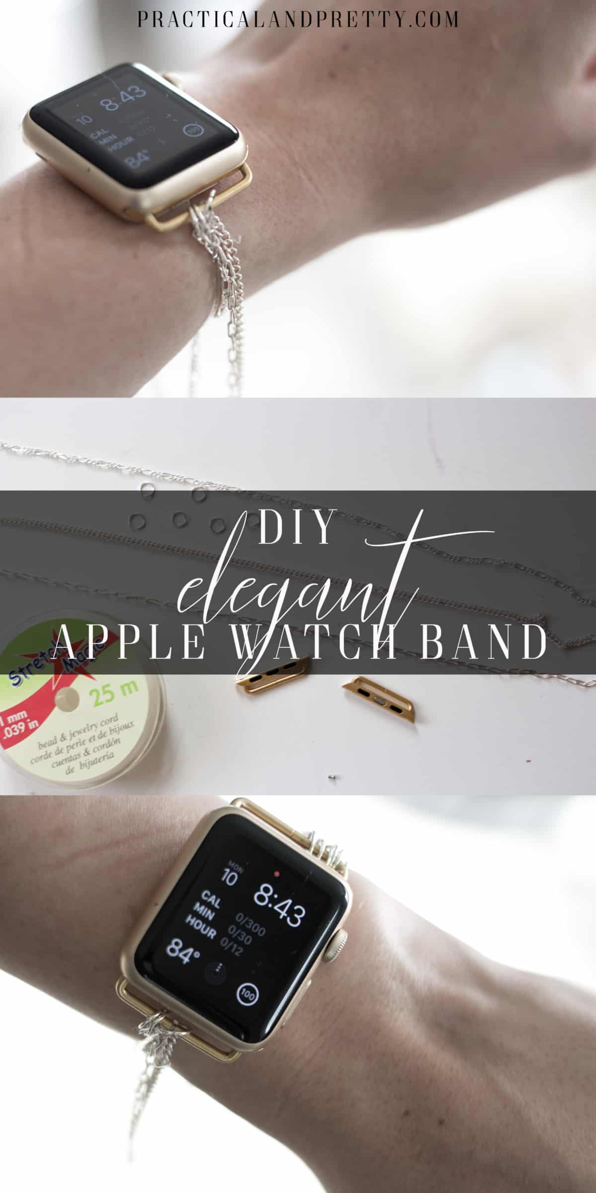 diy apple watch band practical and pretty. Black Bedroom Furniture Sets. Home Design Ideas
