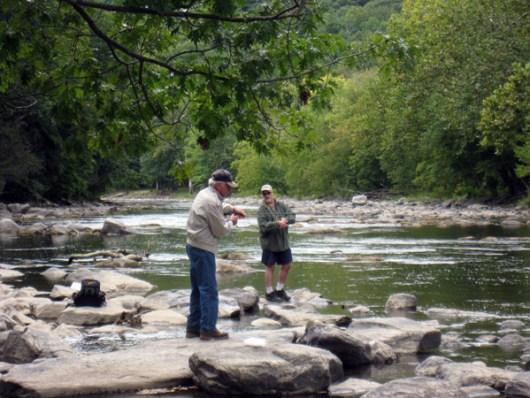 Bob and I Fishing
