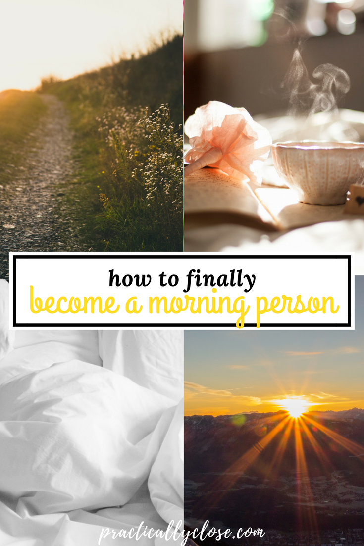 becoming a morning person tip