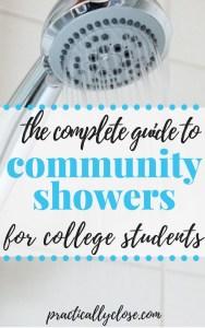 community shower college