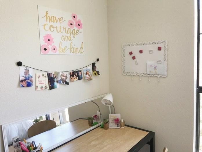 college apartment desk
