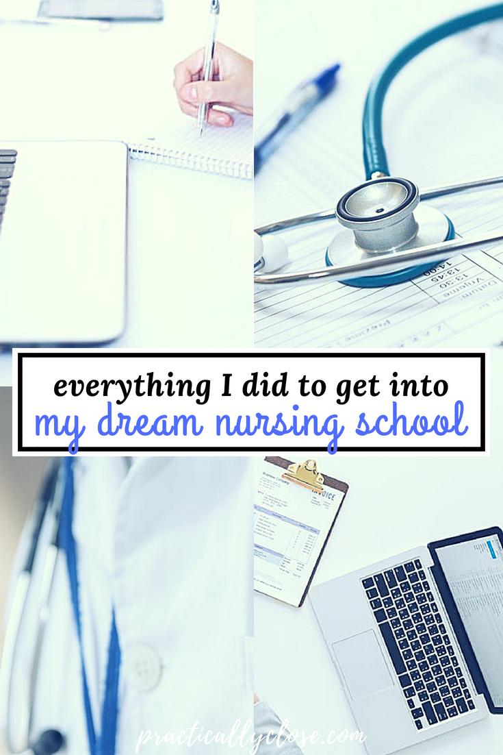get into nursing school