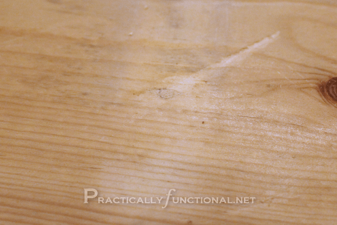 How To Fix Nail Or Holes In Wood Tutorial From Practically Functional