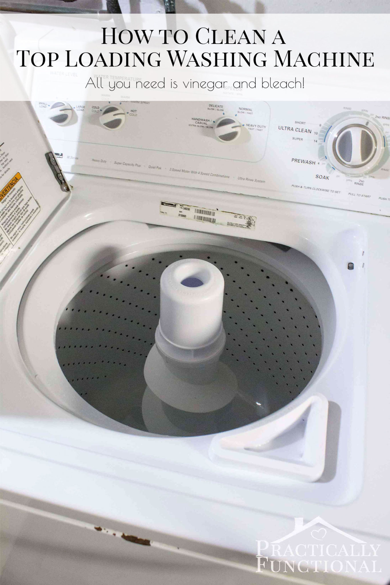 How To Clean A Top Loading Washing Machine With Vinegar And Bleach