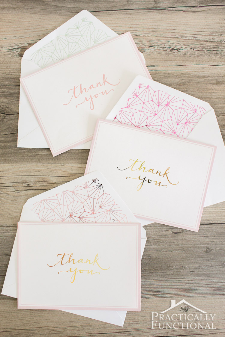 Make Your Own Foil Thank You Cards Perfect For Any Occasion