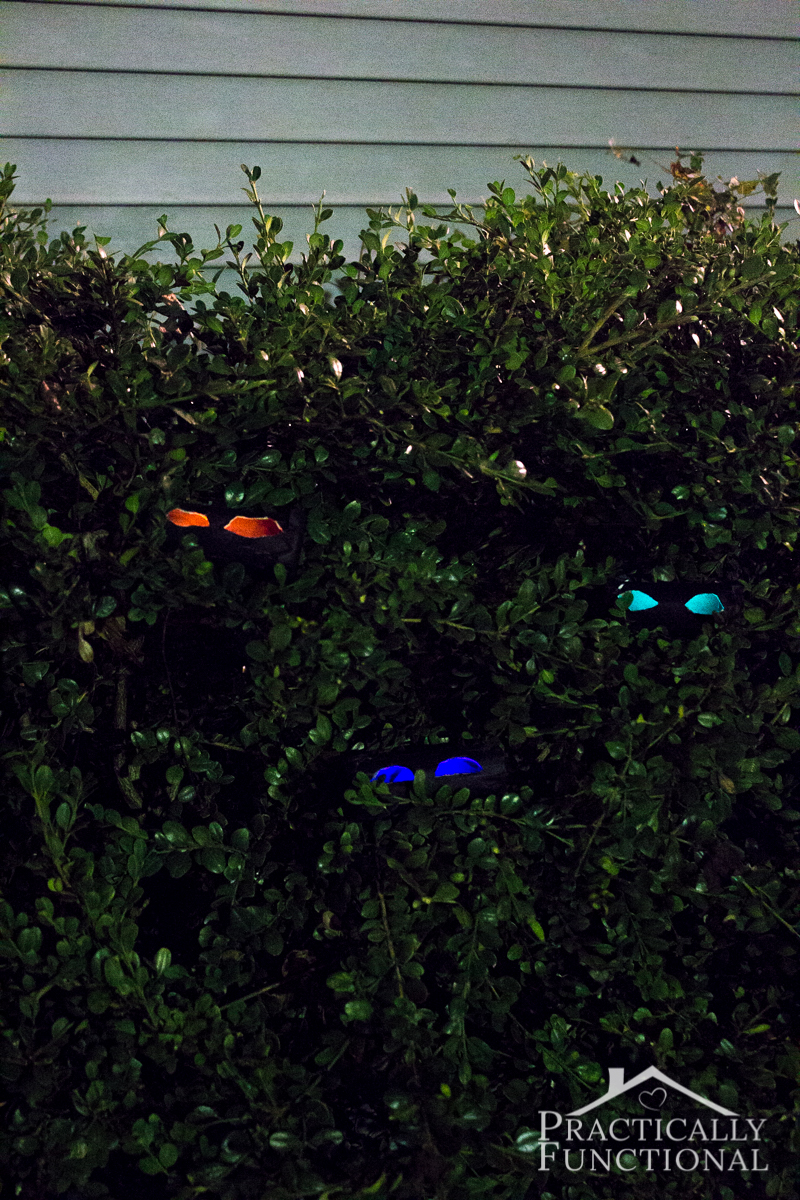 DIY Spooky Glow Stick Eyes