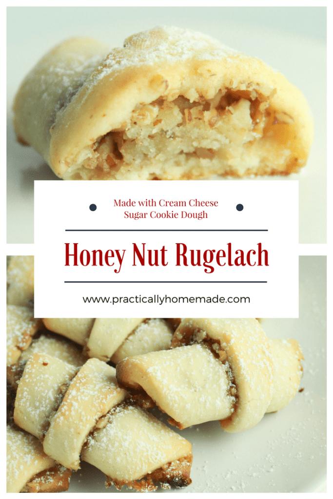 honey nut rugelach | honey nut rugelach cookies | honey-nut rugelach holiday cookies | rugelach recipe | rugelach recipe easy | rugelach cookies