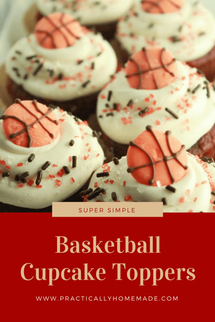 basketball cupcake toppers | basketball cupcake topper ideas | basketball cupcakes | basketball cupcakes easy | cupcake toppers diy | cupcake toppers