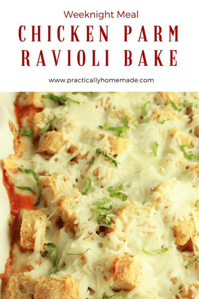 chicken parm ravioli bake | chicken parmesan ravioli bake | chicken parmesan casserole | chicken parmesan casserole with pasta | chicken parmesan casserole easy | chicken parmesan casserole baked