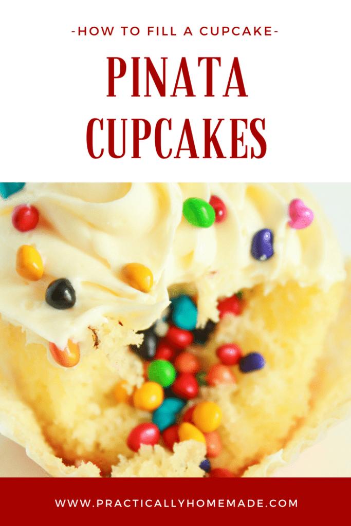 Pinata Cupcakes | Pinata Cupcakes DIY | Pinata Cupcakes Ideas | Pinata Cupcakes Cake | How to Fill a Cupcake | How to Fill a Cupcake with Filling | How to Fill a Cupcake Tutorials