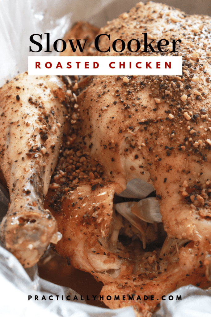 slow cooker chicken | slow cooker recipes | slow cooker roasted chicken | roasted chicken