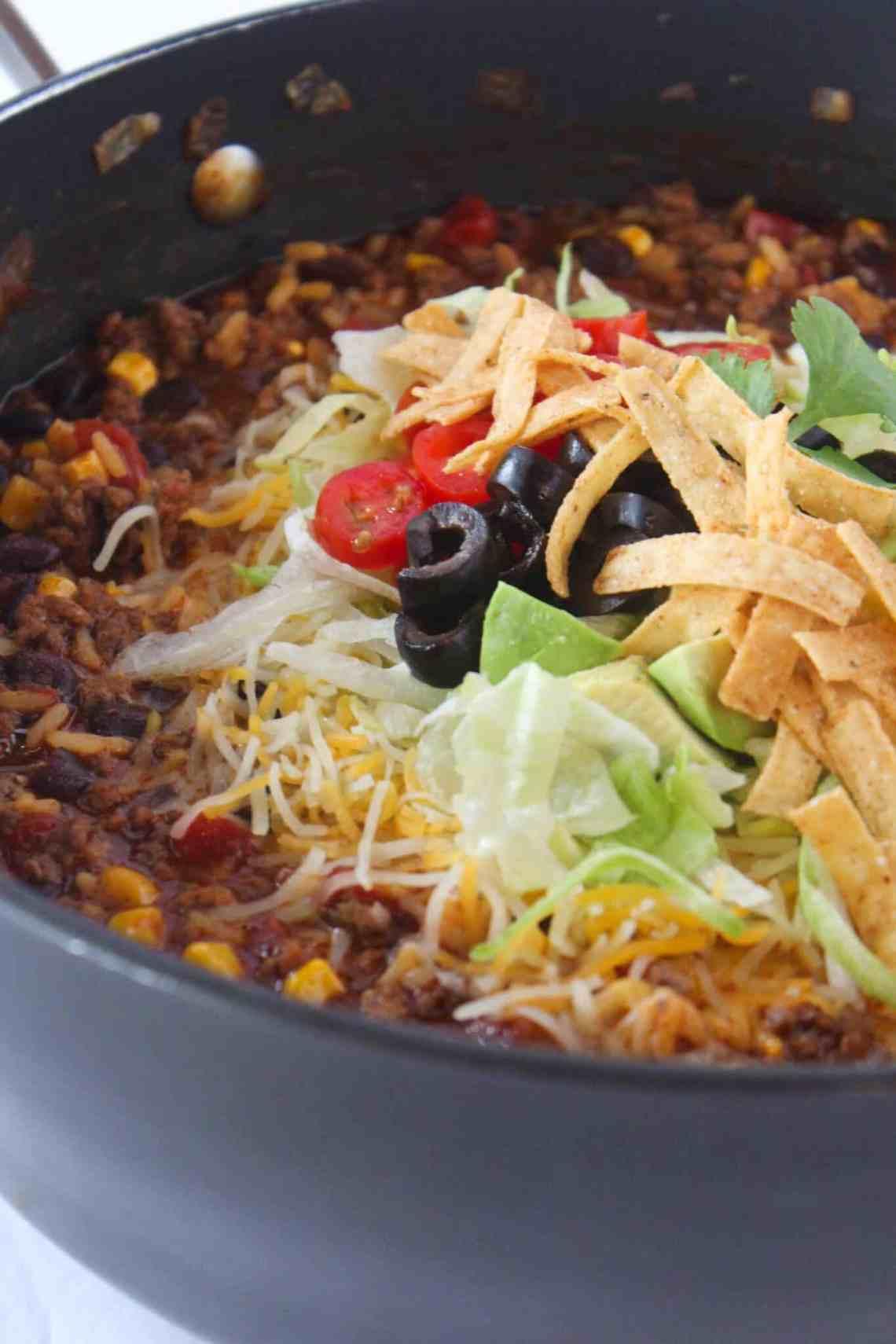 Easy Dinner Ideas: Ground Beef Enchilada Skillet ...