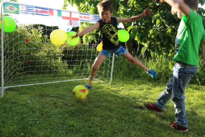 Action Save at the Football Party